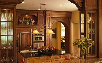 Modern versus Mediterranean kitchen cabinets in naples fl
