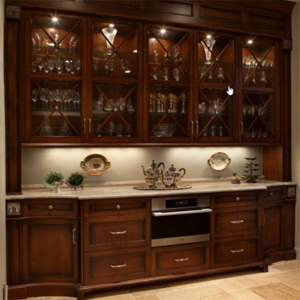 kitchen cabinetry for wine glasses