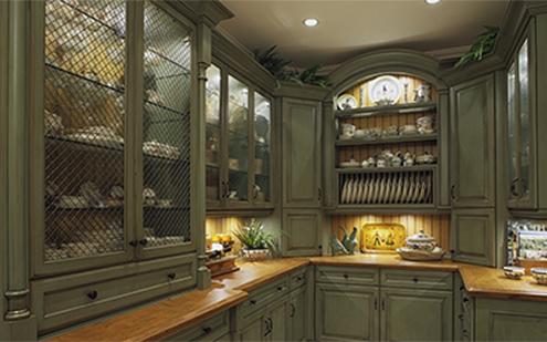 adjustable custom cabinetry