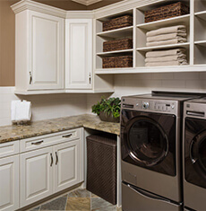 modern laundry room - cabinetry