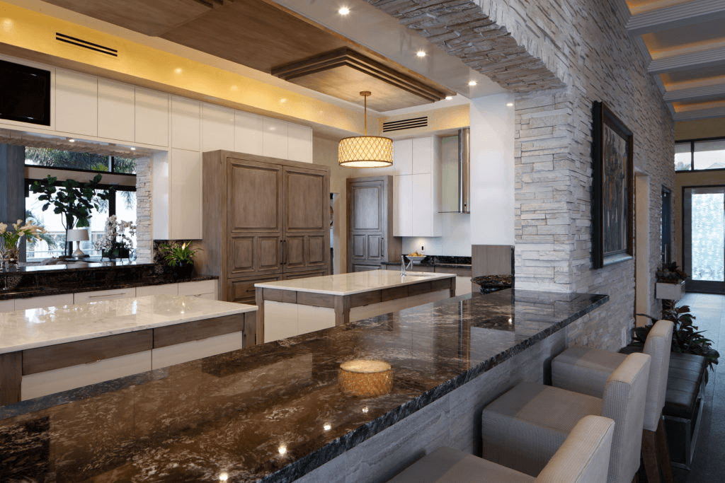 contemporary kitchen bar