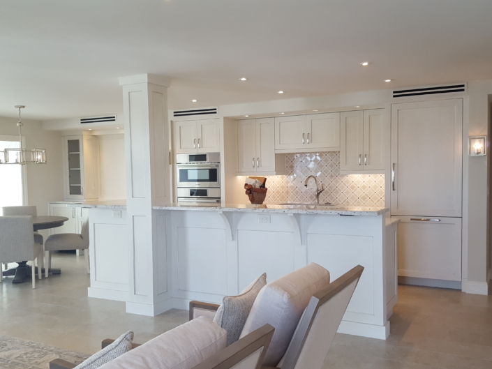 contemporary kitchen and living space