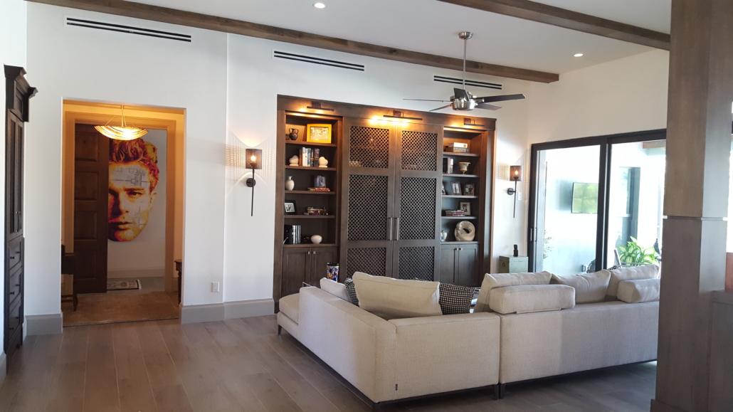 TV wall - family room