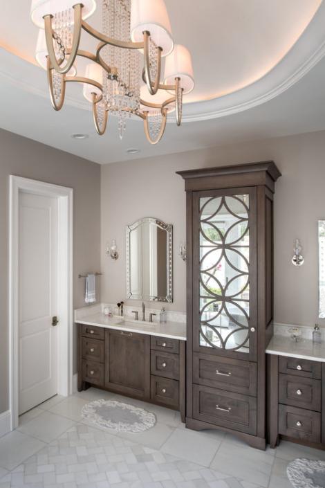 master bathroom - transitional