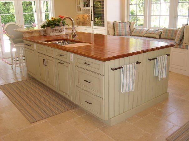 modern country style kitchen island